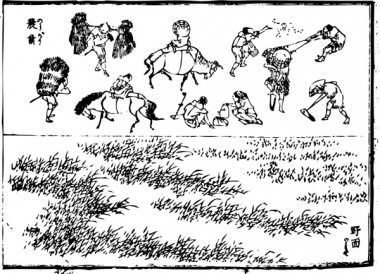 It is the interesting picture in which people who are doing agriculture were drawn.