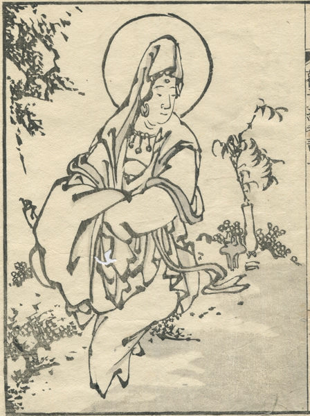 an illustration of the Kannon currently drawn
